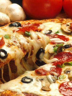 پیتزا گوشت قارچ
